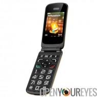 VKWorld Z2 Seniors Téléphone Mobile - haut parleur, grosses touches, Intelligent parlent de fonction, Dual SIM, appareil photo,