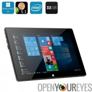 Windows 5.1 10 + Android Tablet PC - 2 GB RAM, CPU Intel Cherry Trail, 32Go de mémoire, écran de 10,1 pouces, Bluetooth, OTG