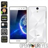Wake BLUBOO Xtouch 5inch Smartphone - écran Full HD, 3 Go de RAM, CPU Core Octa, Smart, contrôle gestuel, HotKnot (blanc)