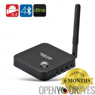 4.4 Android Smart TV-Box - CPU RK3128 Quad Core, 1 Go de RAM, 8 Go de mémoire interne, Port HDMI, 4 Ports x USB
