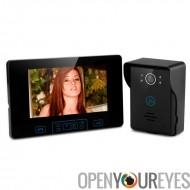 Téléphone visuel de porte - écran TFT numérique de 7 pouces, 2,4 GHz sans fil, 2 à 5 mètres de Vision nocturne, alarme de sabot