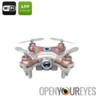 Android Mini Drone - 2,4 GHz Wi-Fi contrôle, gamme de 15 à 30M, 6 – stabilisation gyroscopique, CX-10W + iOS soutien, FPV (Rose
