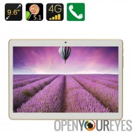 4G Android Tablet PC - Dual SIM, 9,6 pouces HD IPS Display, MTK Quad Core CPU, 1 Go de RAM, Android 5.1, OTG