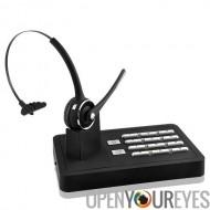Kit mains libres sans fil Bluetooth Headset System (2 en 1 téléphone fixe et Téléphone Mobile connexion)