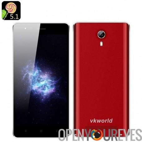 VKWorld F1 Android Smartphone 5.1 - 4,5 pouces 854 x 480 IPS, Smart suite, Quad Core CPU, 2 SIM, Bluetooth 4.0 (rouge)
