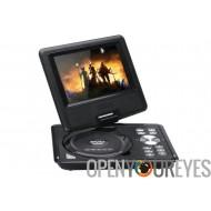 Enfants de 7 pouces lecteur DVD Portable - large écran couleur TFT, eBook, FM Radio, contrôleur de jeu, antenne TV (noir)