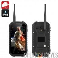 IP68 Smartphone Android « Guerrier téléphone + »-1,7 GHz CPU, 2 Go de RAM, 4,7 pouces 720p écran, GPS, NFC, talkie walkie (noir