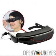 Lunettes vidéo portables - 72 pouces écran virtuel, 4GB, fonction AV