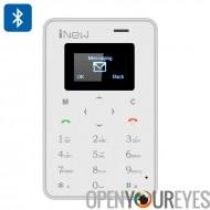 iNew Mini 1 GSM téléphone carte de crédit - quadri-bande GSM, déclencheur de l'appareil photo, 320mAh batterie, Bluetooth (blan