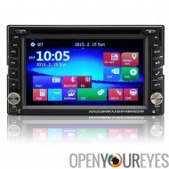 2 DIN 6.2 pouces universel voiture lecteur DVD - système d'exploitation Windows CE 6.0, résolution 800 x 480, GPS, Support iPod