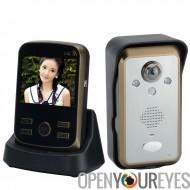 Interphone de porte sans fil « Protéger II » - 3,5 pouces TFT LCD écran, détecteur de mouvement PIR, IP55 imperméable à l'eau,