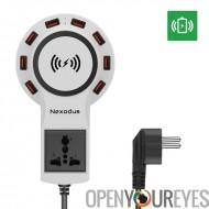 Ligne de vie Nexodus 8 Port USB Charging Station - Qi Pad de recharge sans fil et câble USB-C gratuit (blanc)