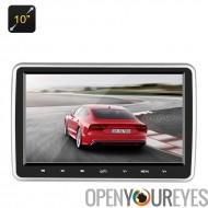 10 pouces appui-tête lecteur DVD de voiture - Region Free, télécommande IR, émulation, fente pour carte SD, HDMI, ajustement un