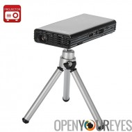 1080p HD projecteur de poche DLP «HD Man» - 2500 mAh power bank, 120 lumens