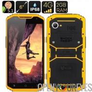 MFOX A10 robuste Smartphone - écran de 6 pouces 1920 x 1080, 64-Bit MTK6752 Octa Core, IP68, 2 Go de RAM, 4G, Android 5.0 (jaun