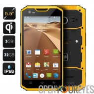 MFOX A7W robuste Android Smartphone - IP68, 5,5 pouces écran, 4G, le Bluetooth 4.0, Wireless charge, A-GPS + GPS