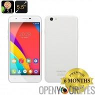 OUKITEL U7 Pro Smartphone - CPU Quad Core, Dual SIM, écran de 5.5 pouces IPS, Android 5.1, Smart Wake (blanc)