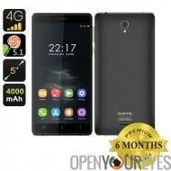 OUKITEL K4000 Smartphone - écran de 5 pouces 2,5 D, verre trempé, MTK6735P CPU Quad Core, Android 5.1, 4G (noir)