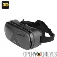 Courroie de tête 3D casque - 3 à 6 pouces profondeur focale de téléphones, 3D Side By Side vidéo, réglable Distance interpupill