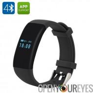DFit Smart sport Bracelet - BT 4.0, étanche IP66, podomètre, cardiaque taux moniteur, sommeil, appel rappel (noir)