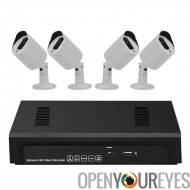 4 canaux 1080p NVR Kit « Sentinel Pro » - 4 X 1080p PoE caméras, Motion Detection, Notification d'alarme, visualisation à dista