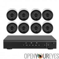Système de sécurité DVR caméra 8 - Surveillance H.264, détection de mouvement, enregistrement d'alarme, 700TVL, Support de Surv