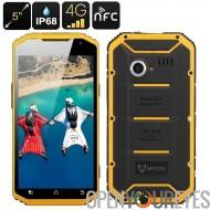 MFOX A11 IP68 norme militaire téléphone - MIL-STD - 810G, Qi charge, FHD 5,0 pouces, Octa Core CPU, 4G, NFC (jaune)