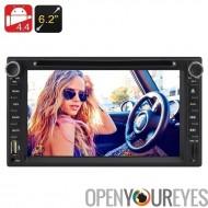 2 DIN 6,2 pouces écran tactile voiture lecteur DVD - CPU Dual Core, 1 Go de RAM, Android 4.4, Support 3G, WIFI Bluetooth FM GPS