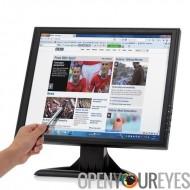 17 pouces LCD écran tactile - résolution de 1280 x 1024, VGA, HDMI, TV, pour PC/POS