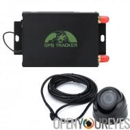 Véhicule GPS Tracker - GPS + LBS, alertes SMS, limite géographique, SIM quadri-bande de soutien, suivi, application pour téléph