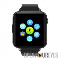 Puce Bluetooth Watch Phone - Slot pour carte SIM GSM, annuaire téléphonique, service TéléRéponse, SMS, 32 GB Micro SD Slot (noi