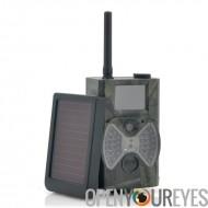 Camera de chasse au gibier avec panneau solaire «Solar-Shot» - 1440 x 1080, détection de mouvement PIR, Vision de nuit, MMS R
