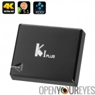 K1 Android TV Box - Android 5.1, 4K, Amlogic S905 Quad Core CPU, HDMI 2.0, décodage H.265