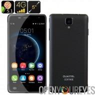 Oukitel K4000 Pro Android Smartphone - écran de 5 pouces HD, 4G, CPU Quad Core, 2Go de RAM, chaud Knot, Smart Wake (noir)