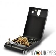 Boîte de sécurité portable - coffre-fort exécutif biométrique d'empreintes digitales, 120 empreintes