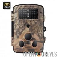 HD 1080p Trail caméra « Camo Cam » - PIR, Vision nocturne 20M, 1/3 de pouce CMOS, 0,6 s Trigger, IP65, 2.4 pouces LCD