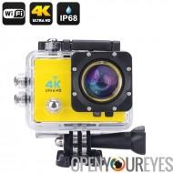4K Wi-Fi imperméable à l'eau de sport caméra d'Action - 4K Ultra HD, 16MP, Grand Angle de 170 degrés, 2 pouces LCD, HDMI Out (j