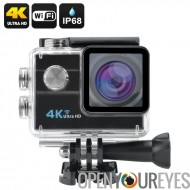 4K Wi-Fi caméra étanche de Sports - 1/4 de pouce 16MP Sony CMOS Sensor, HDMI, 173 degrés lentille, écran de 2 pouces LCD (noir)