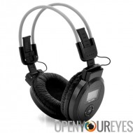 Pliage de casque - lecteur MP3, Radio FM, Micro SD + SD Card Slots