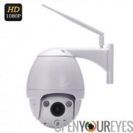 IP67 PTZ dôme Camaera - capteur Sony CMOS de 1/2, 8 pouces, 4 fois Zoom, ONVIF 2.2, détection de mouvement, Vision de nuit