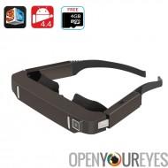 Vision de 800 lunettes vidéo 3D - Android 4,4, Side By Side vidéo, appareil photo 5MP, 1080p, Support, Bluetooth, Wi-Fi