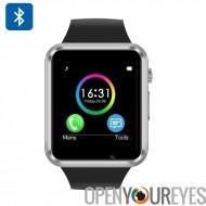 Smart montre téléphone - GSM, appel téléphonique, SMS, caméra à distance détente, sommeil moniteur, Step + Calorie Counter