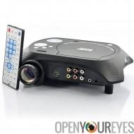 LED projecteur multimédia avec lecteur de DVD - 480 x 320, 20 Lumens, 100: 1