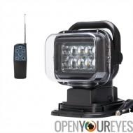 Voiture Rechercher LED Light - 7 pouces, 50W, 3200 Lumens, étanche IP65, 10 x 5W Cree XTE LEDs, Rotation de 360 degrés