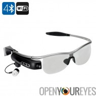 Portez des lunettes de puce Bluetooth - Bluetooth 4.0, polarisé lentille, Wi-Fi, appareil photo 8 mégapixels, enregistreur vidé
