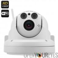 Sans fil caméra IP PTZ - enregistrement FHD 1080p, Zoom optique 4 x, Compression H.264, Vision de nuit de 40M, IR CUT, assistan