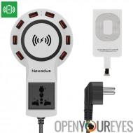 Ligne de vie Nexodus 8 Port USB Charging Stations - iPhone possibilité d'utiliser, Qi Charging Pad, 12Amp, USB Type C conducteu