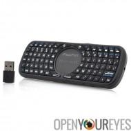 Sans fil clavier AZERTY avec Touchpad «iPazzPort» - 10m de portée, Design ergonomique