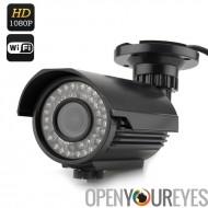 Outdoor IP caméra à Vision nocturne - 1080p, H.264, 1/2,5 pouce CMOS capteur, 42 x LEDs, IR-Cut