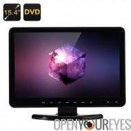 15,4 pouces TFT moniteur LCD - Full HD, 16:9, lecteur DVD, TV et VGA, HDMI, USB, SD voiture Hitachi lentille